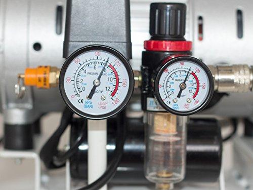 Starkwerk Silent Flüster Druckluft Kompressor SW 355/8 Ölfrei 750Watt - 64db