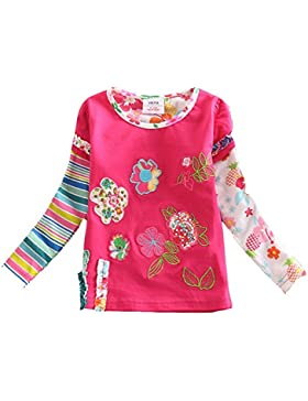 vikita infantil flor vestido de niña para niños bebé algodón manga corta vestidos en verano para 2–8años