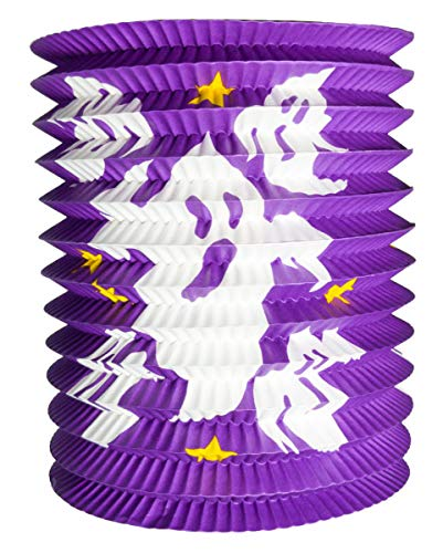 Horror-Shop Laterne / Lampion mit Gespenstern 20 cm lila
