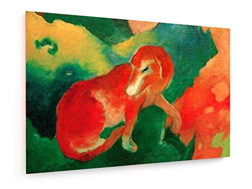 franz-marc-perro-rojo-75x50-cm-weewado-impresiones-sobre-lienzo-muro-de-arte