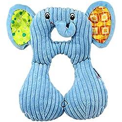 Wildlead Oreiller de Cou pour bébé et Enfant, appuie-tête de Voyage pour siège de Voiture Coussin de Poussette, Elephant