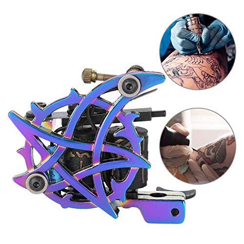 Tattoo-Maschine 10 Spulen – Professionelle Legierung Rotary starken Motor Gun Liner Shader Clip Kordel zum Ausmalen Körper Art Werkzeug