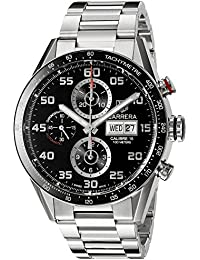 amazon co uk tag heuer watches tag heuer men s carrera 43mm steel bracelet automatic watch cv2a1r ba0799