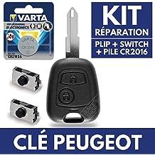 Caja mando a distancia carcasa Jongo llave Peugeot 106 206 306 107 207 ...