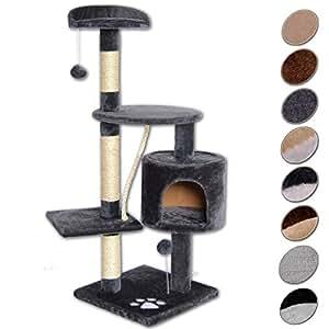 dibea arbre chat avec griffoir centre d 39 activit s gris 112 cm animalerie. Black Bedroom Furniture Sets. Home Design Ideas