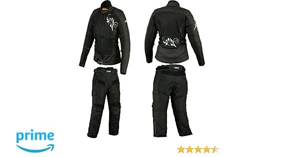 BOSMOTO Motorradkombi Damen, Textil Zweiteiler Kombi (M)