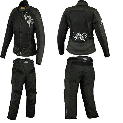 BOSMOTO Motorradkombi Damen, Textil Zweiteiler Kombi (XXL)