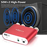 Nobsound NS-10G Pro Hi-Fi DSP 100W (50W x 2) Digital Bluetooth 4.2 Amplifier 2.0 Channel Stereo Power Audio Amp for Home Speakers Upgrade Version Mini Digitaler Verstärker (with Power Supply, Red) für Nobsound NS-10G Pro Hi-Fi DSP 100W (50W x 2) Digital Bluetooth 4.2 Amplifier 2.0 Channel Stereo Power Audio Amp for Home Speakers Upgrade Version Mini Digitaler Verstärker (with Power Supply, Red)