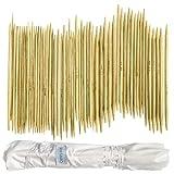 Ensemble de 80 Aiguilles à Tricoter Doubles Pointes en Bambou par Curtzy - Kit Aiguilles et Crochets dans Étui de Rangement en Coton Offert - Le Meilleur Ensemble pour Débutants et Professionnels.
