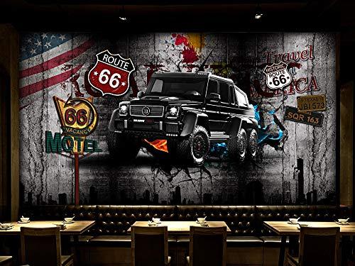 Tapete Europa Und Die Vereinigten Staaten Retro Zement Wand Auto Gebrochene Wand 3D Persönlichkeit Tv Sofa Hintergrund Wand Wohnkultur Benutzerdefinierte Irgendeine Größe -