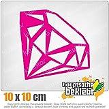 KIWISTAR Edelstein Gemstone 10 x 10 cm IN 15 FARBEN - Neon + Chrom! Sticker Aufkleber