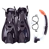 Mask Snorkel Fins / Flippers PVC Diving Set (Adults) - Scuba Dive Snorkelling