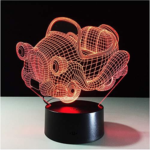 Nachtlicht Usb 7 Farben Retro Schaukel Auto 3D Nachtlicht Acryl Platte Ändern Led Schreibtisch Tischlampe 3D Illusion Lampen Für Jungen Geschenke (Dekoration Schaukel Halloween Auf Mädchen)