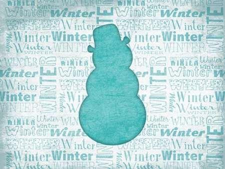 Snowman par Grey, Jace -Imprimé beaux-arts sur toile - Petit (66 x 49 cms)
