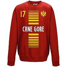 crewneck Pullover Sweatshirt manner National Sport Montenegro Crna Gora 17 fussball Sport Europa Aquila 1 KiarenzaFD Streetwear