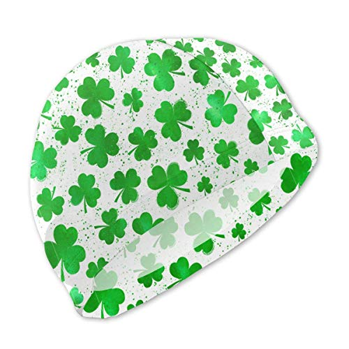 SFHJK Swim Caps Badekappe St. Patrick's Day Lucky Shamrock Lycra Swim Caps Kids Long Hair Swimming Cap for Girls Boys Kids Teens Lycra Swim Cap