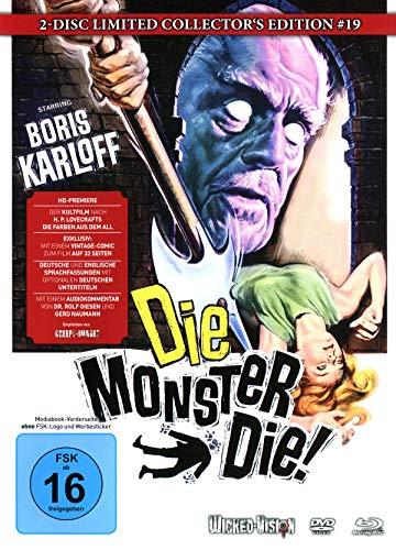 Die, Monster, Die! (Das Grauen auf Schloss Witley) - 2-Disc Limited Collector's Edition Nr.19 (Blu-ray + DVD) -  Limitiertes Mediabook auf 222 Stück, Cover C Monster-schloss