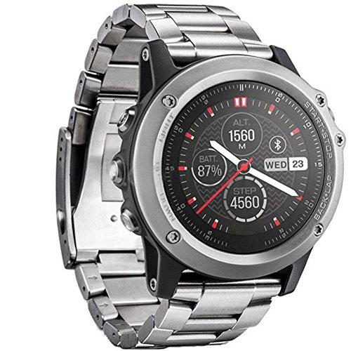HappyTop Edelstahl Armband, 26mm Armband Ersatz Armbanduhr Band Wrist Strap für Garmin Fenix 3/HR 2016 S Silber