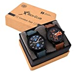 #5: Rich Club Combo of 2 Analogue Black Dial Mens and Boys Watches-Rel-Denim