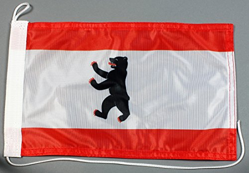 Bootsflagge Berlin 20 x 30 cm in Profiqualität Flagge Motorradflagge
