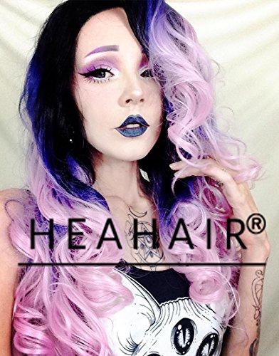 heahairr-affortable-halloween-ombre-arc-en-ciel-relief-rose-perruque-lace-front-synthetique-pour-fem