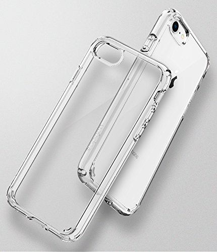 Spigen Ultra Hybrid 2 Cover iPhone 8, Cover iPhone 7, con Tecnologia Air Cushion e Protezione da Goccia Ibrida per Apple iPhone 7 / iPhone 8 , Chiaro Cristallo