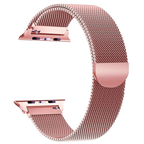 Smartwatch Armband,38mm Rosegold Milanaise Strap Armband Replacement Wrist Band für Apple Watch 38mm Serie1,2,3