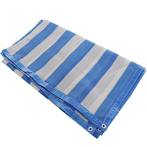 DUO Voiles d'ombrage Couverture de tissu d'ombre de Sunblock de 90% avec des agrafes pour des usines (Couleur : Blue, taille : 3×5M)