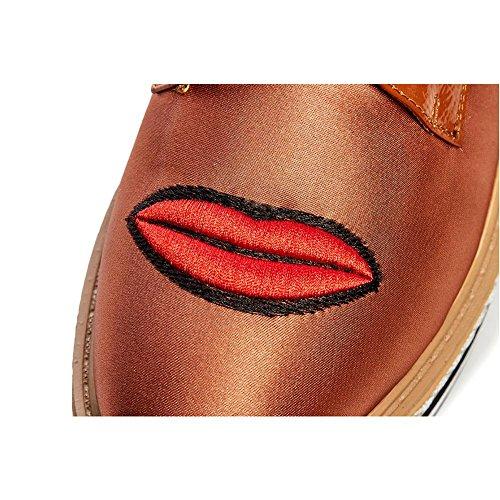 Espadrillas Basse Donna WSXY-A0920 Ricamo Creativo Scarpe Testa Superficiale Scarpe Casual,KJJDE Yellow