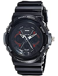SKMEI Analog-Digital White Dial Men's Watch - AD0966 (BLK)