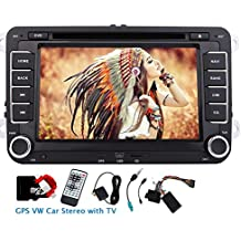 7 din pollici GPS Car DVD Player Eincar doppi Nel cruscotto VW autoradio con schede GPS 8GB Sat Navi incorporato autoradio Bluetooth TV analogica unit¨¤ principale Canbus inclusi supporto FM AM RDS Aux autoradio GPS