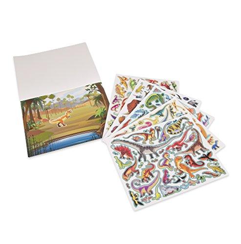 Melissa & Doug Wiederbenutzbarer Stickerblock - Vorgeschichtliche Zeit (185 Sticker)