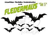 Aufkleber / Wandtattoo / Sticker ***FLEDERMAUS SET 5*** 8 Stück - freie Folienfarbwahl - matt und glänzend!