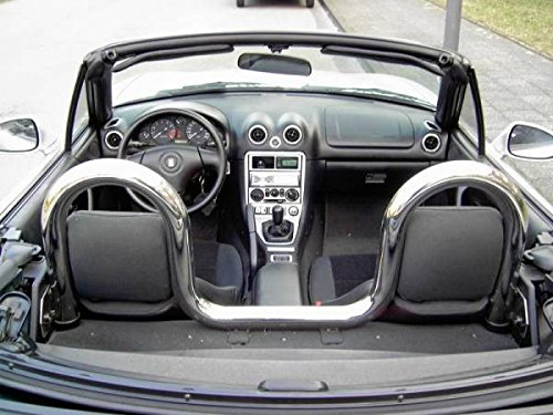 Preisvergleich Produktbild K & R Mazda MX5 Typ NA & NB Überrollbügel Roadsterbügel inkl. Windschott Set