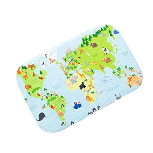 24 Klassische Läufer Teppich (luniwei 40,6x 61cm Weltkarte Einzigartige Innen Dekorative Fußmatte Tür Küche Eingang Teppiche Badezimmer Antirutschmatte)