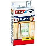 tesa Fliegengitter für Türen, beste tesa Qualität, weiß, leichter Sichtschutz, 1,2m x 2,5m