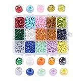 Große Plastikbox mit Perlen Mix 4mm Perlen DIY vom Bastel Express