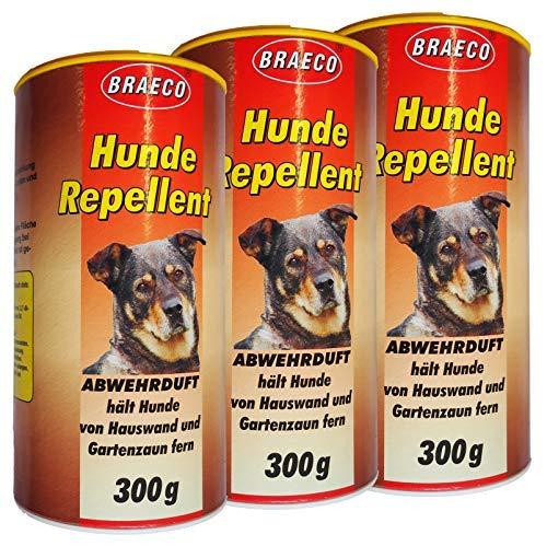 Preisjubel 3 x Hunde Repellent Abwehrduft 300g, Hundeschreck, Hundevertreiber, Tierabwehr
