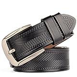 DIDIDD Hommes ceintures boucle d'aiguille en cuir antique