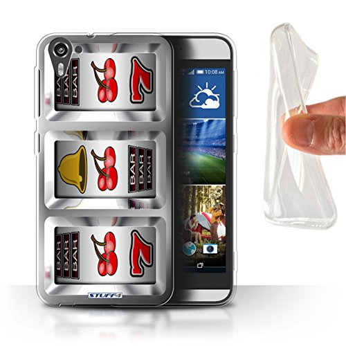 Stuff4 Gel TPU Hülle / Hülle für HTC Desire 826 / Kirschen Muster / Spielautomat Kollektion - 826 Kirsche