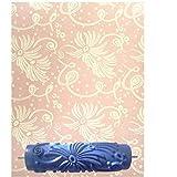 7 Pulgadas Rodillo de Pintura Patrón de Flor Decoración de Relieve para Pared Bricolaje # 6