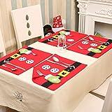fexgaoo Weihnachten Weihnachtsmann Tischset für Esszimmer Küche Tisch Dekoration Dekor