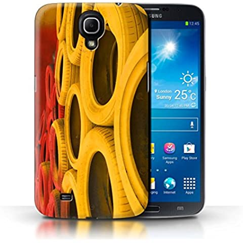 Carcasa/Funda STUFF4 dura para el Samsung Galaxy Mega 6.3 / serie: Pista Carreras Foto - Neumáticos/Barrera