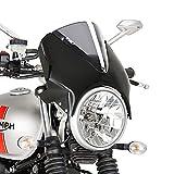 Windschild Yamaha XJR 1300 99-16 Puig Vision schwarz-rauchgrau