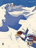 Wee Blue Coo Prints TRAVEL WINTER SPORT SNOW SKI CHALET ALPS AUSTRIA ART PRINT POSTER Reise Schnee Alpen Österreich Kun