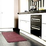 Chastep Antimüdigkeits Komfortmatte Steh-Bodenmatte ergonomische Matte für Arbeitsplätze,Stehschreibtische, Küchen und Bad Anti-Ermüdungsschicht (kirschenrot)