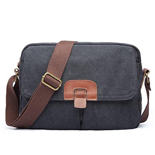 Outreo Borsa Tracolla Uomo Borse a Spalla Vintage Borsello Sport Sacchetto  Viaggio Borsetta Tablet Messenger Bag c538ff8b1a0
