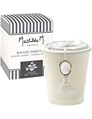 Mathilde M Coffret : Bougie parfumée Les Intemporels senteur Fleur de Coton - Parfum de France