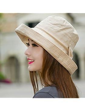 Sombrero sombrero Cuenca femenino Verano tapa de pesca playa Hat SUNCAP sunscreen protector solar protector solar...