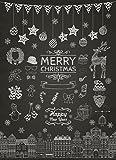10 Weihnachtskarten Kreide, Weihnachtskarten-Set, Postkarte Weihnachten 10er Set
